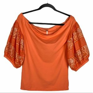 Free People Rock With It Top Off Shoulder Boho